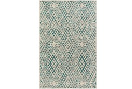 63X87 Rug-Khione Distressed Teal