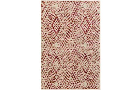 106X153 Rug-Khione Distressed Raspberry