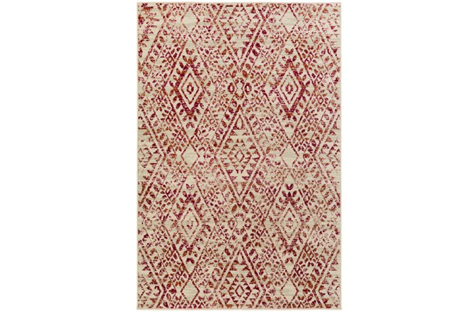 106X153 Rug-Khione Distressed Raspberry - 360