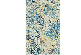 24X36 Rug-Fields Blue/Yellow