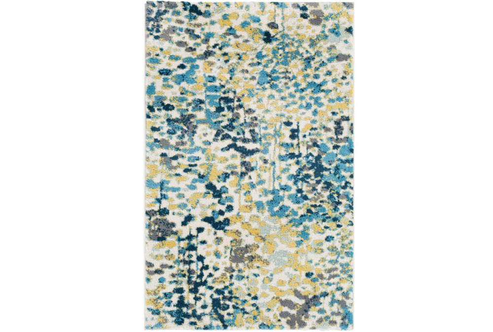 63X90 Rug-Fields Blue/Yellow