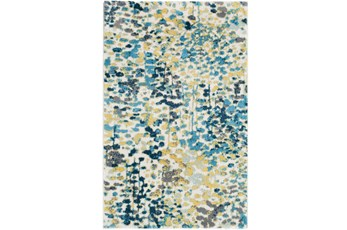 63X90 Rug-Fields Blue/Yellow