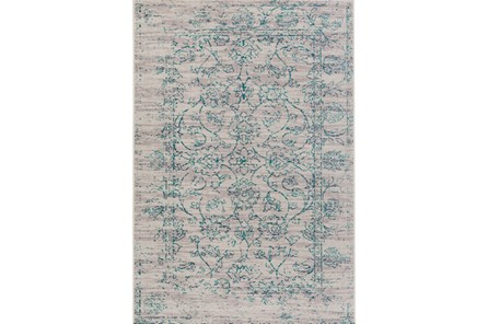 63X87 Rug-Nella Antique Damask Teal