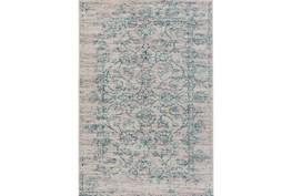 106X153 Rug-Nella Antique Damask Teal