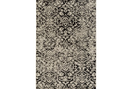 94X118 Rug-Nella Antique Traditional Charcoal
