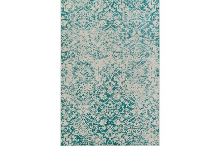 94X118 Rug-Nella Antique Traditional Teal