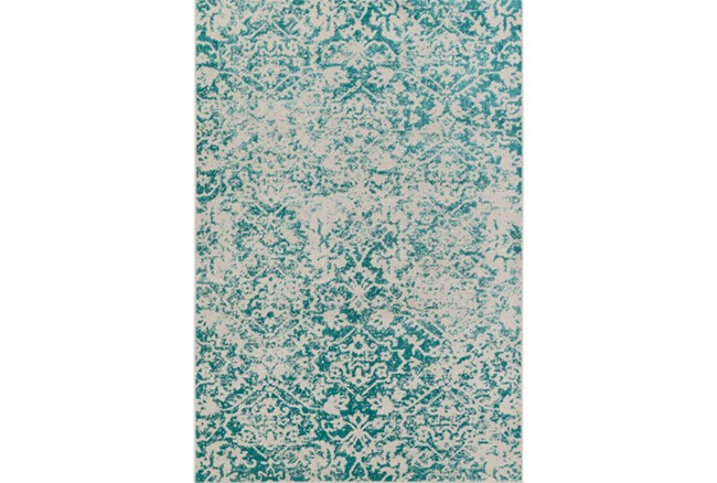 94X118 Rug-Nella Antique Traditional Teal - 360