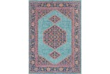 24X36 Rug-Amori Inverse Hexagon Teal/Raspberry - Signature