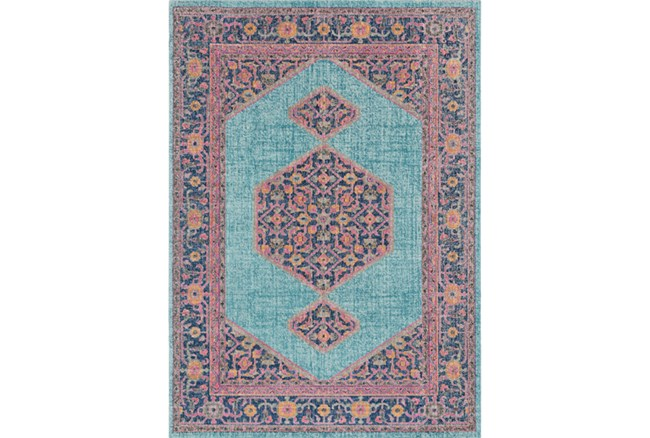 24X36 Rug-Amori Inverse Hexagon Teal/Raspberry - 360