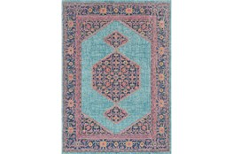94X123 Rug-Amori Inverse Hexagon Teal/Raspberry