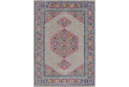 24X36 Rug-Amori Inverse Hexagon Grey/Raspberry