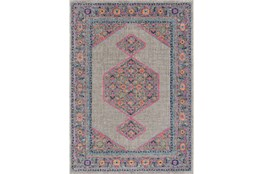 63X87 Rug-Amori Inverse Hexagon Grey/Raspberry