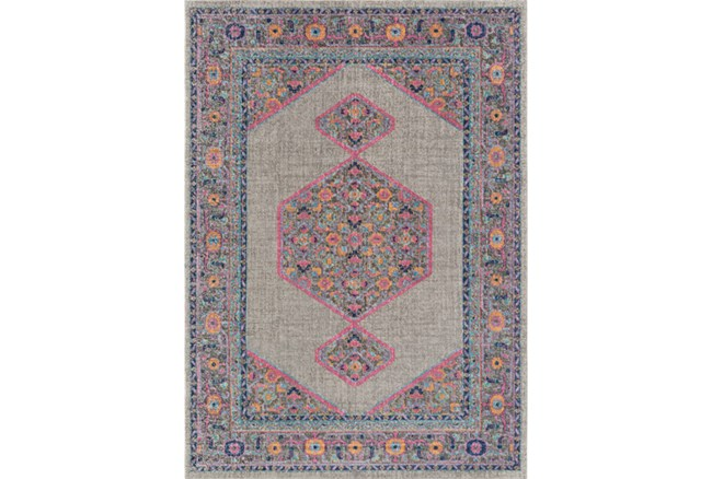 63X87 Rug-Amori Inverse Hexagon Grey/Raspberry - 360