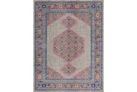 94X123 Rug-Amori Inverse Hexagon Grey/Raspberry