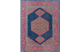 24X36 Rug-Amori Inverse Hexagon Dark Blue/Raspberry