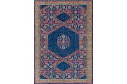 24X36 Rug-Amori Hexagon Medallion Dark Blue/Raspberry