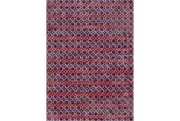 63X87 Rug-Amori Criss Cross Dark Blue/Orange