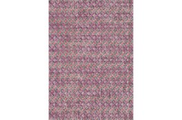 94X123 Rug-Amori Criss Cross Dark Berry/Grey