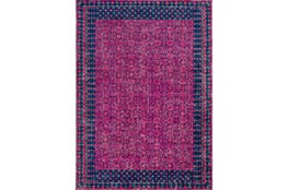 24X36 Rug-Amori Border Raspberry/Dark Blue