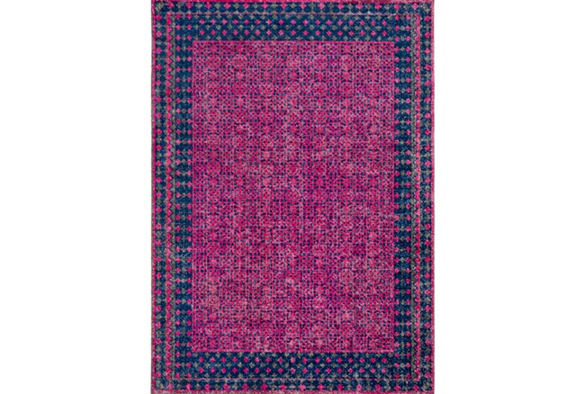 24X36 Rug-Amori Border Raspberry/Dark Blue - 360