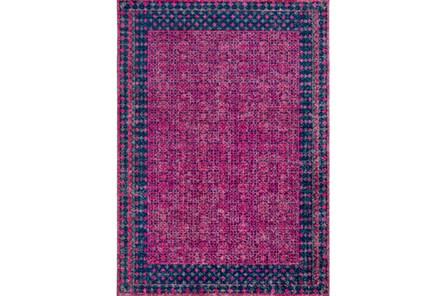 63X87 Rug-Amori Border Raspberry/Dark Blue