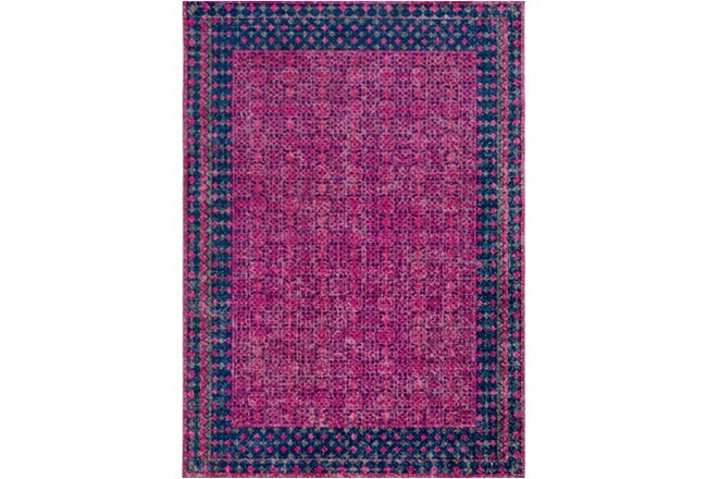 63X87 Rug-Amori Border Raspberry/Dark Blue - 360