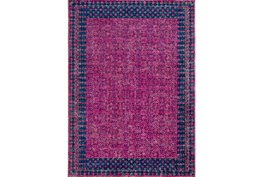 94X123 Rug-Amori Border Raspberry/Dark Blue