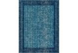 63X87 Rug-Amori Border Teal/Dark Blue - Signature