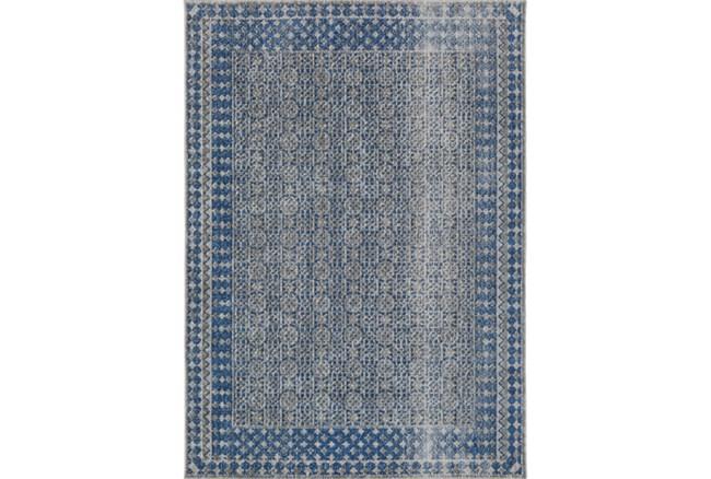 63X87 Rug-Amori Border Grey/Blue - 360