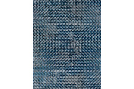 24X36 Rug-Amori Criss Cross Dark Blue/Teal - Main