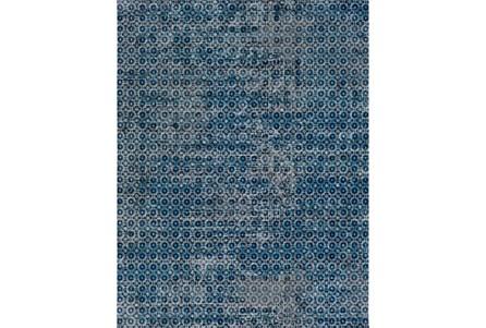 63X87 Rug-Amori Criss Cross Dark Blue/Teal