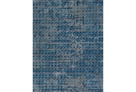 94X123 Rug-Amori Criss Cross Dark Blue/Teal
