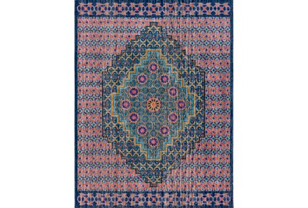 94X123 Rug-Amori Center Medallion Teal/Multi
