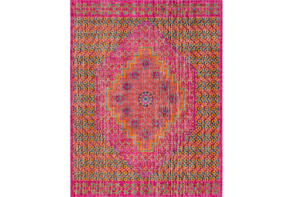 24X36 Rug-Amori Center Medallion Raspberry/Orange