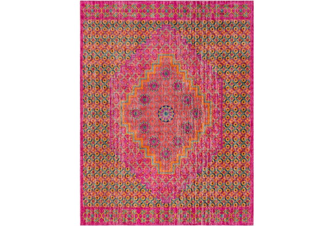 24X36 Rug-Amori Center Medallion Raspberry/Orange - 360