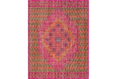 94X123 Rug-Amori Center Medallion Raspberry/Orange