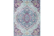 24X36 Rug-Odette Medallion Purple/Teal