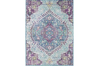 47X67 Rug-Odette Medallion Purple/Teal