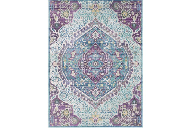 47X67 Rug-Odette Medallion Purple/Teal - 360