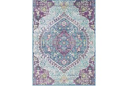 63X90 Rug-Odette Medallion Purple/Teal