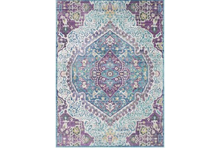 108X142 Rug-Odette Medallion Purple/Teal