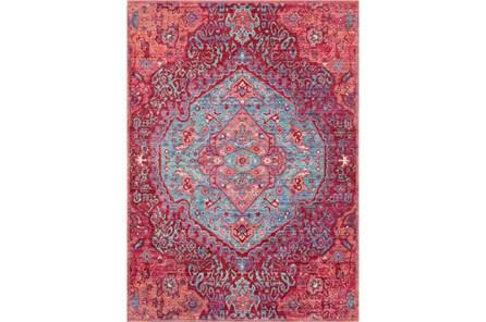 47X67 Rug-Odette Medallion Bright Pink/Aqua