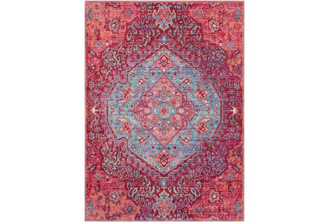 63X90 Rug-Odette Medallion Bright Pink/Aqua - 360