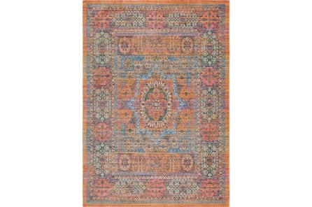 47X67 Rug-Gypsy Star Saffron/Blue