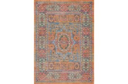 94X123 Rug-Gypsy Star Saffron/Blue