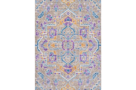 108X142 Rug-Gypsy Purple/Blue/Yellow