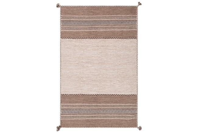 24X36 Rug-Tassel Cotton Flatweave Camel - 360