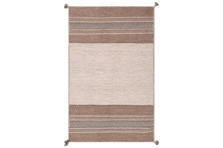 48X72 Rug-Tassel Cotton Flatweave Camel