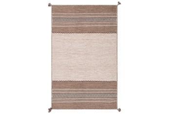 "5'x7'5"" Rug-Tassel Cotton Flatweave Camel"