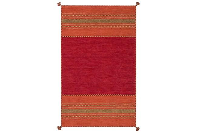 2'x3' Rug-Tassel Cotton Flatweave Orange - 360